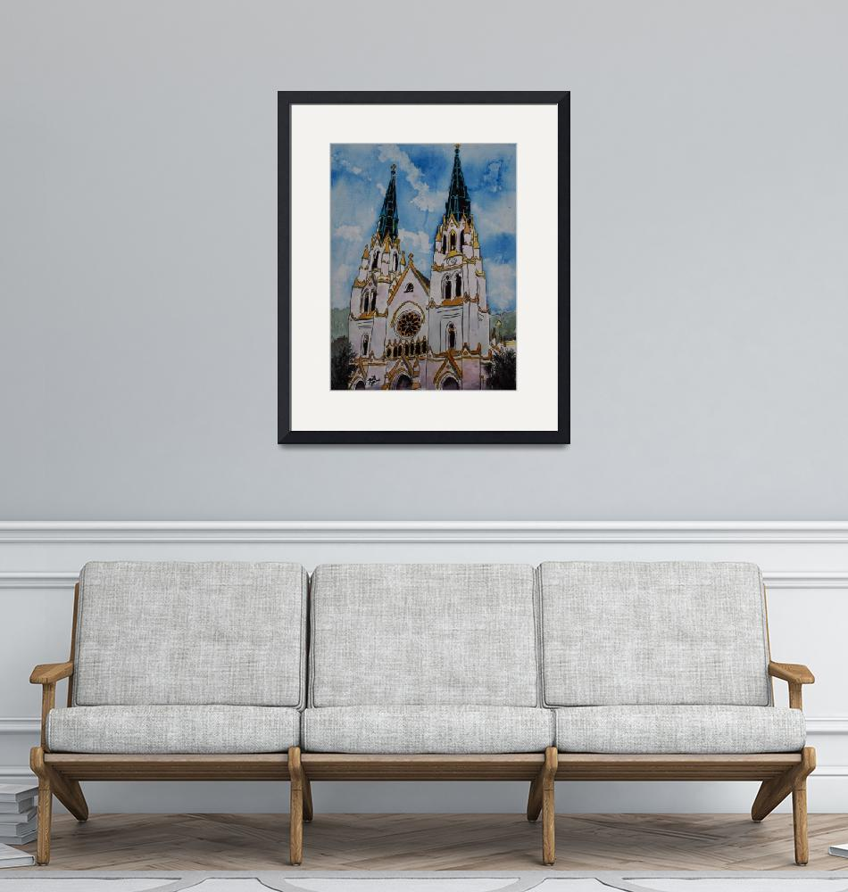 """St John the Baptist Church christian art print""  (2009) by derekmccrea"