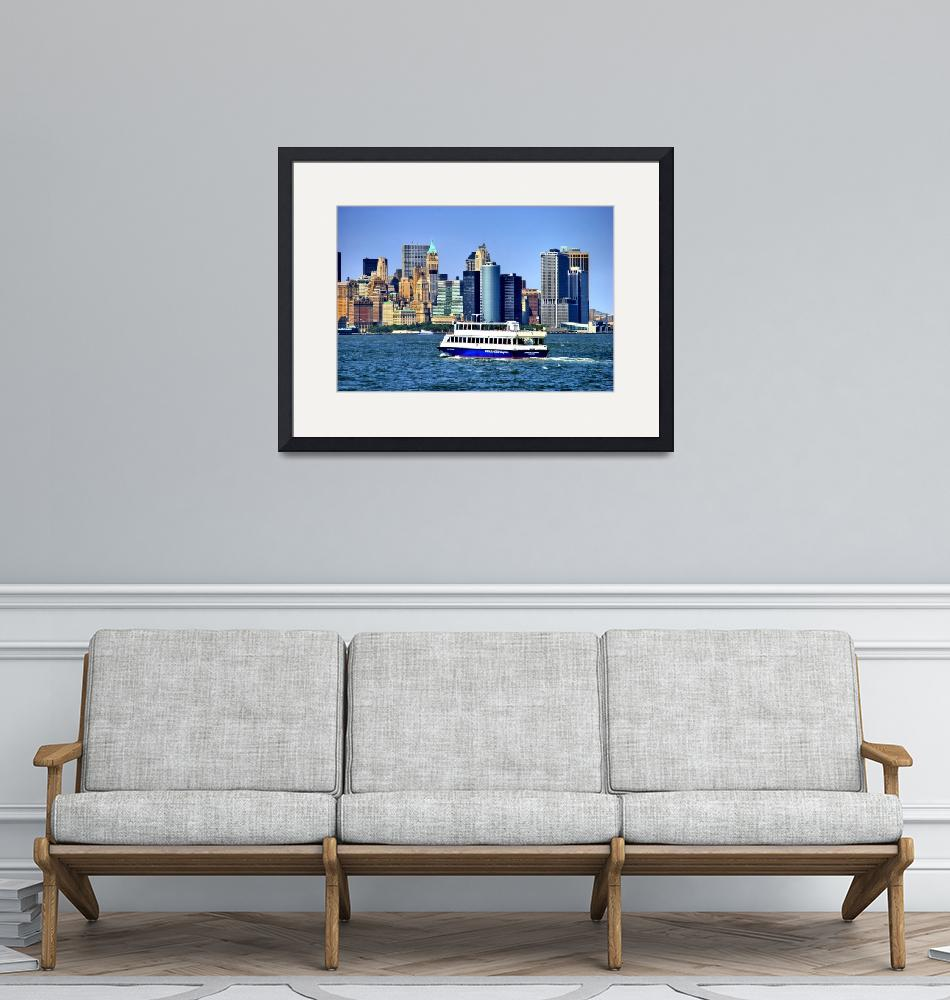 """Lower Manhattan View from Hudson Harbor""  (2009) by New-Yorkled"