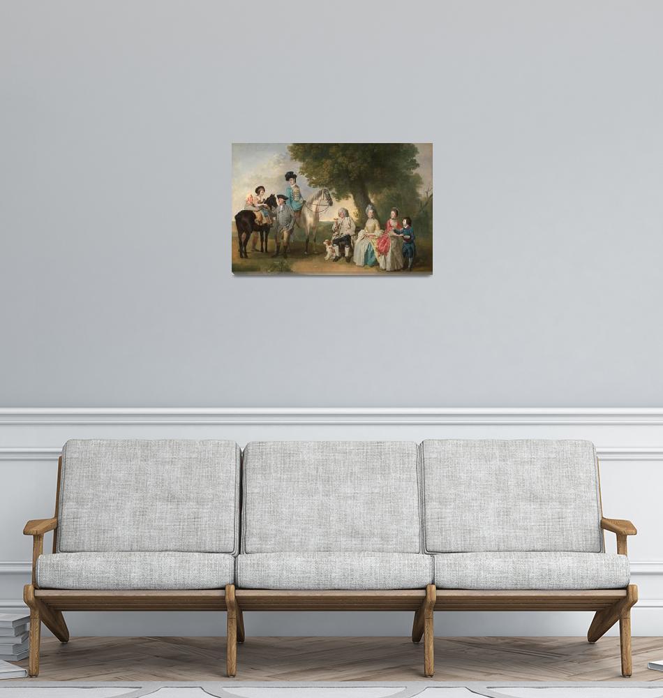 """Johann Zoffany~The Drummond Family""  by Old_master"