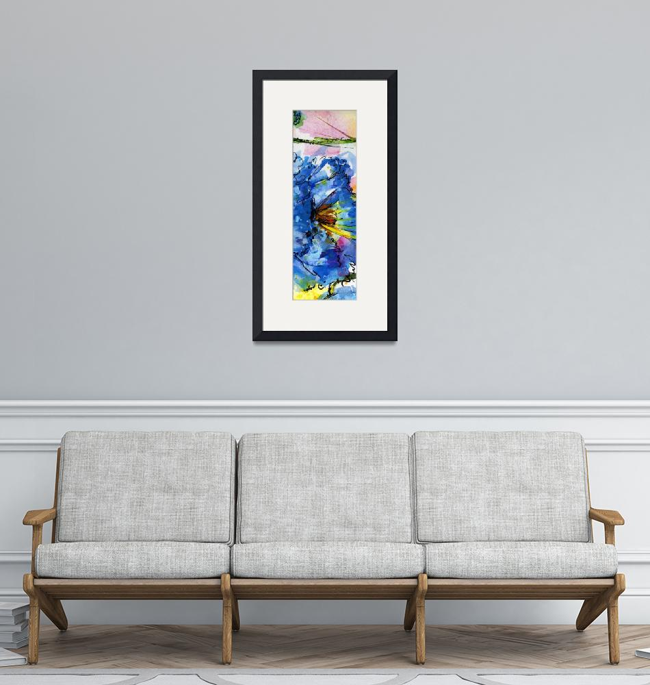 """""""Blue Poppy Tallskinni 1 by Ginette""""  (2011) by GinetteCallaway"""