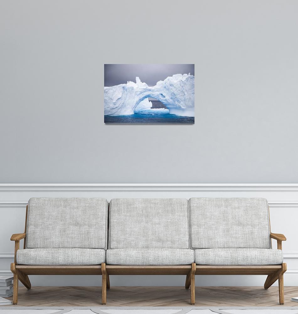 """Antarctica Iceberg Archway""  (2007) by mlenny"