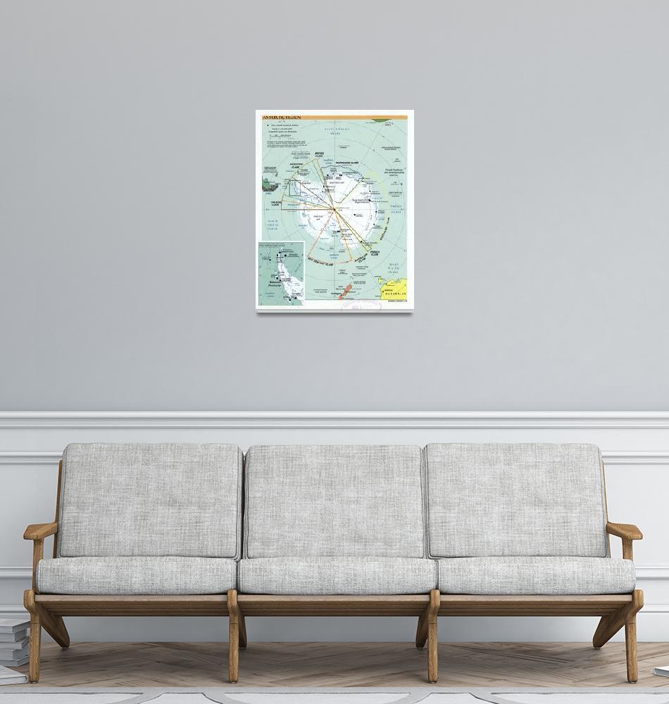 """Map of Antarctica (2000)""  by Alleycatshirts"