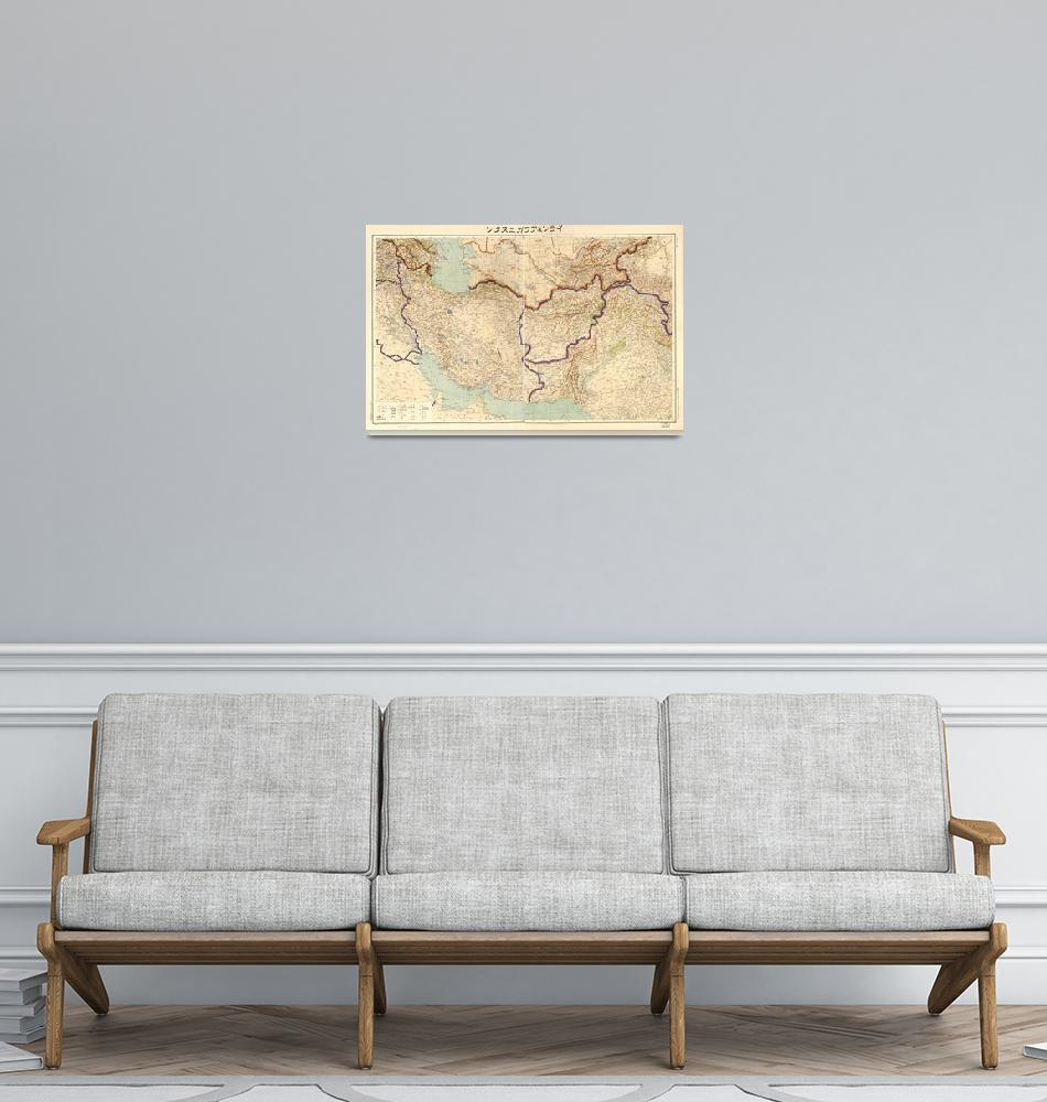 """""""Map of Iran & Afghanistan (1941)""""  by ArtHistory"""