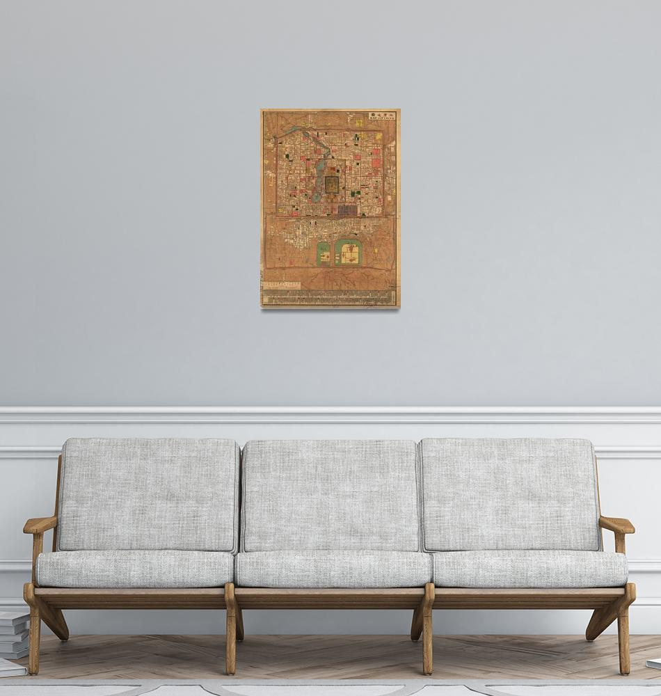 """""""Vintage Map of Beijing China (1914)""""  by Alleycatshirts"""