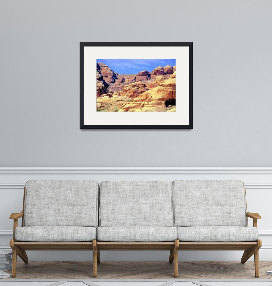 """""""Petra Fabulous Rock Formations""""  (1998) by JoaoPonces"""