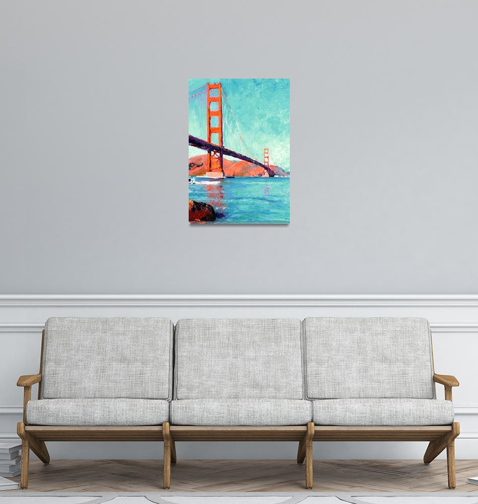 """Golden Gate Bridge San Francisco by Riccoboni""  (2006) by RDRiccoboni"