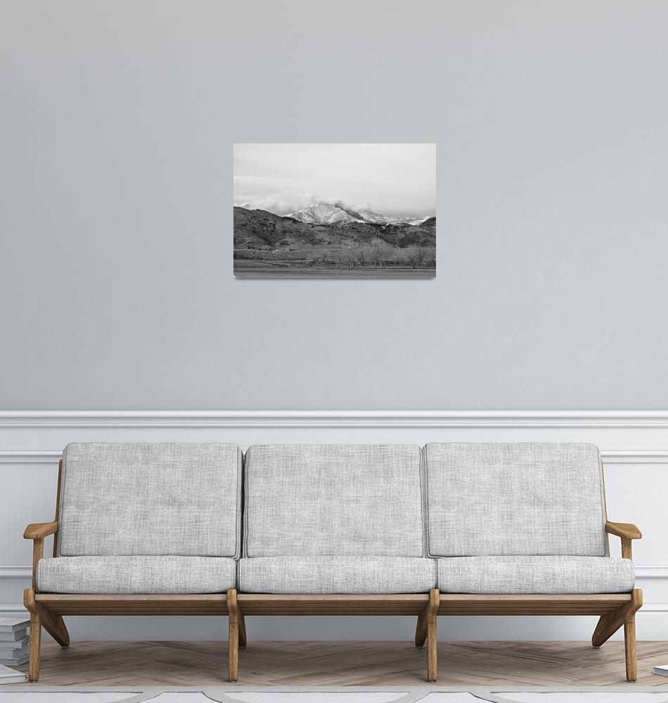 """December 16th Twin Peak Sunrise BW View""  (2013) by lightningman"