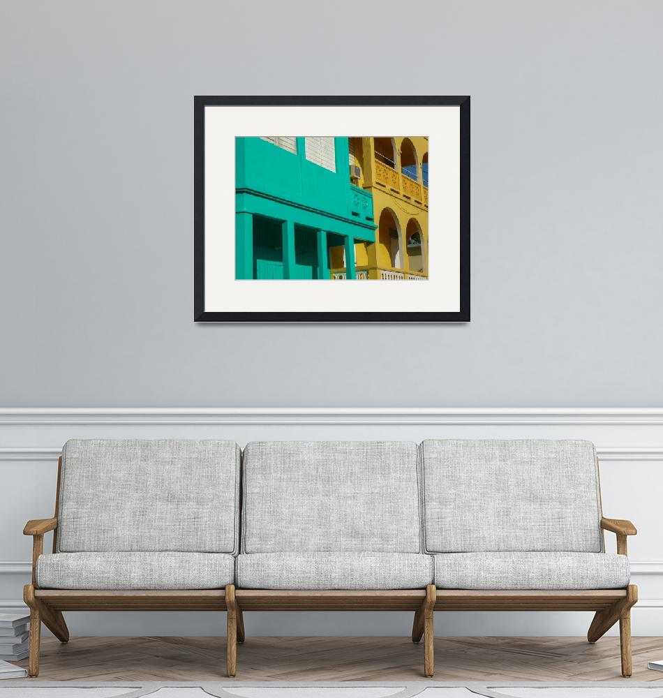 """Yellow and Aqua Architecture in  Puerto Rico""  (2010) by nshepherd"