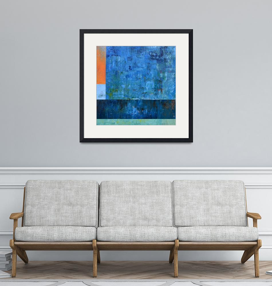 """""""Blue with Orange"""" (2017) by Michelle1991"""