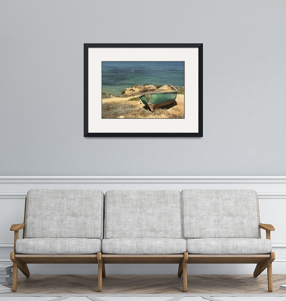 """Moored Boat on the Shore""  (2005) by PhotoStock-Israel"