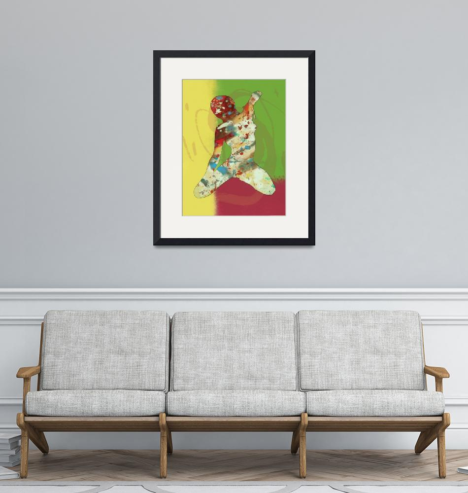 """""""Pop art nude dancing etching poster""""  (2013) by visualharbour"""