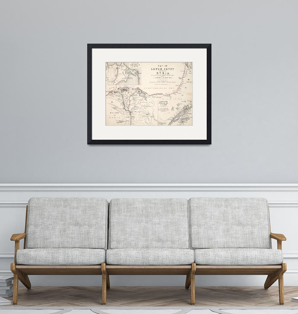 """Antique Map of Lower Egypt and part of Syria""  by fineartmasters"