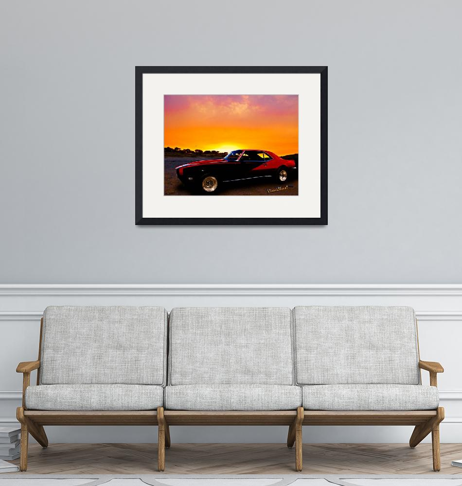 """69 Camaro Up At Rocky Ridge For Sunset""  (2012) by chassinklier"