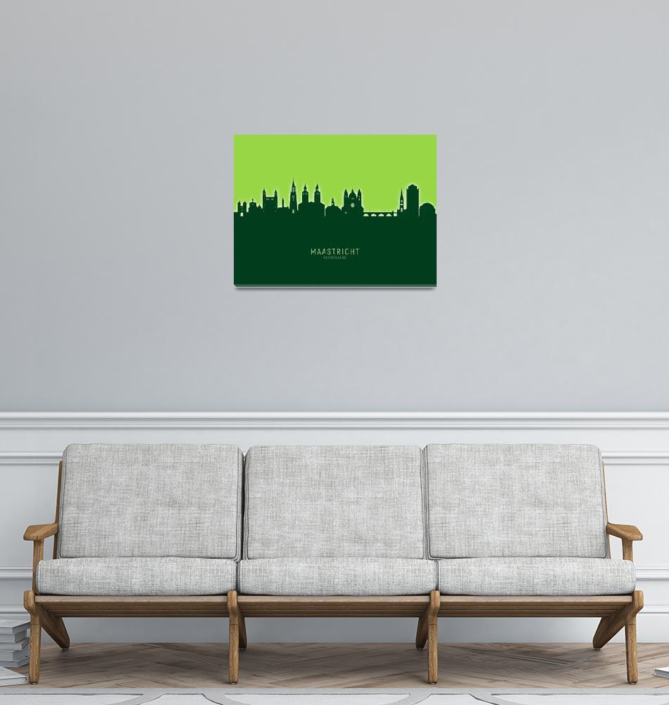 """""""Maastricht The Netherlands Skyline""""  (2020) by ModernArtPrints"""