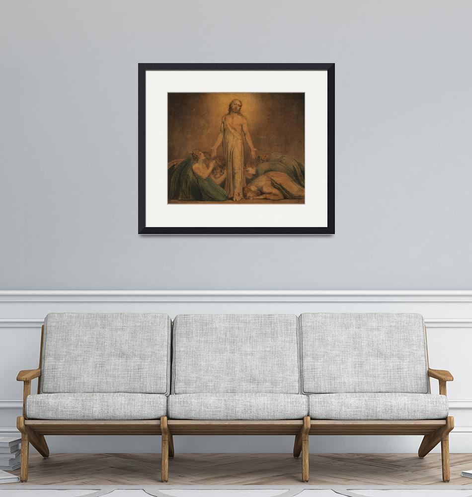 """William Blake~Christ Appearing to the Apostles aft""  by Old_master"