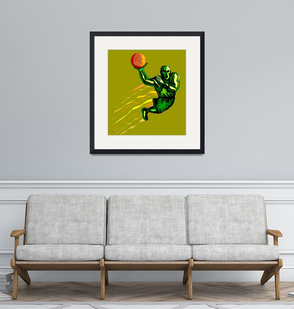 """Basketball Player Dunking""  (2013) by patrimonio"