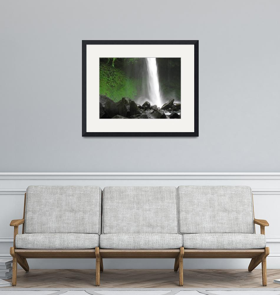 """""""Costa Rican Waterfall""""  (2011) by nmstephens"""