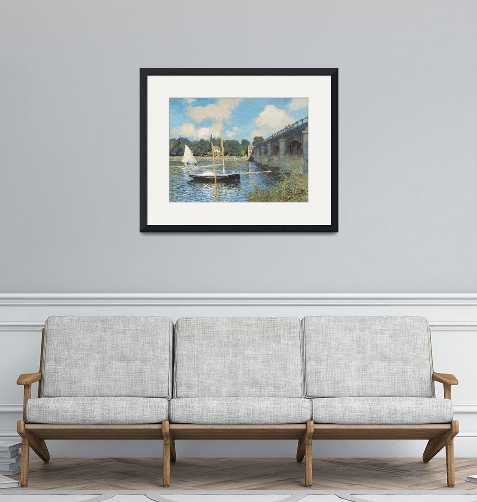 """The Bridge at Argenteuil by Monet""  by FineArtClassics"