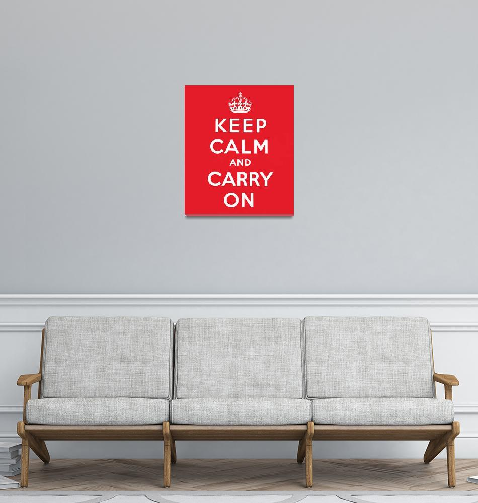 """""""Keep Calm and Carry On""""  (1939) by fineartmasters"""