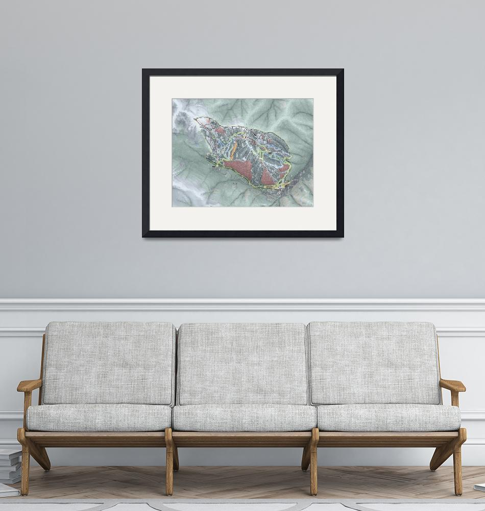 """""""Taos Ski Valley Trail Map""""  (2020) by Mapsynergy"""