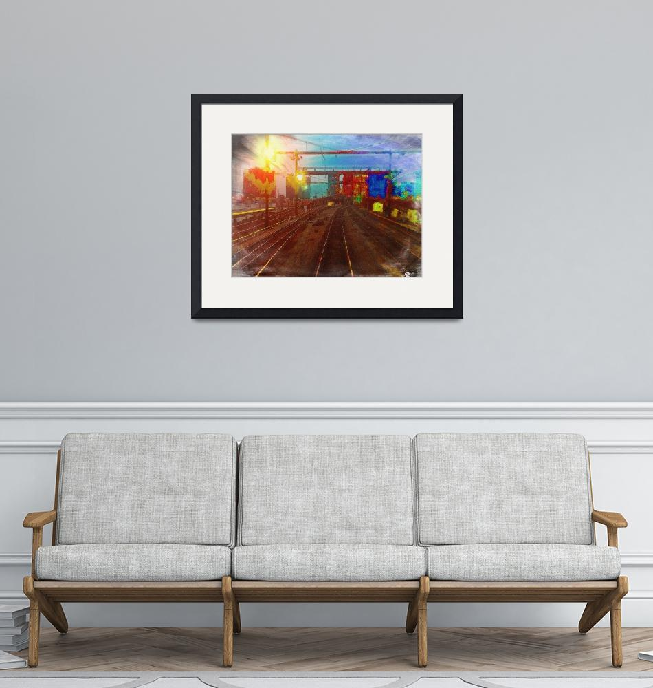 """""""The Past Train 4""""  (2018) by RubinoFineArt"""