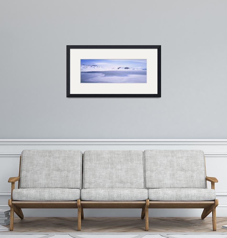 """""""Panoramic view of a snowcapped landscape""""  by Panoramic_Images"""