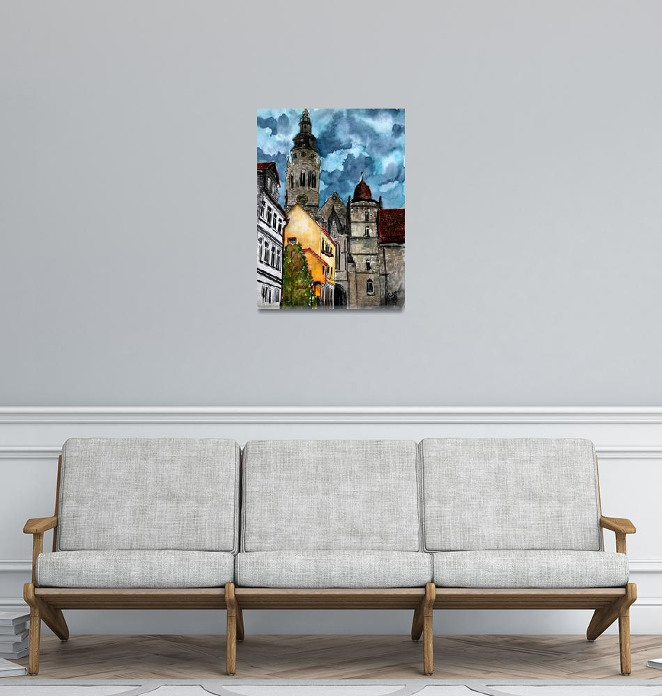 """Coburg Germany Castle Painting""  (2009) by derekmccrea"
