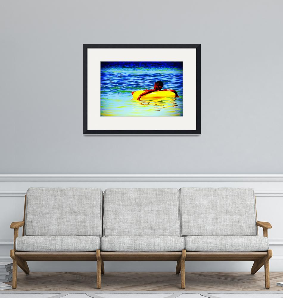 """""""Floating In Yellow""""  by BonnieFeasterChapa"""