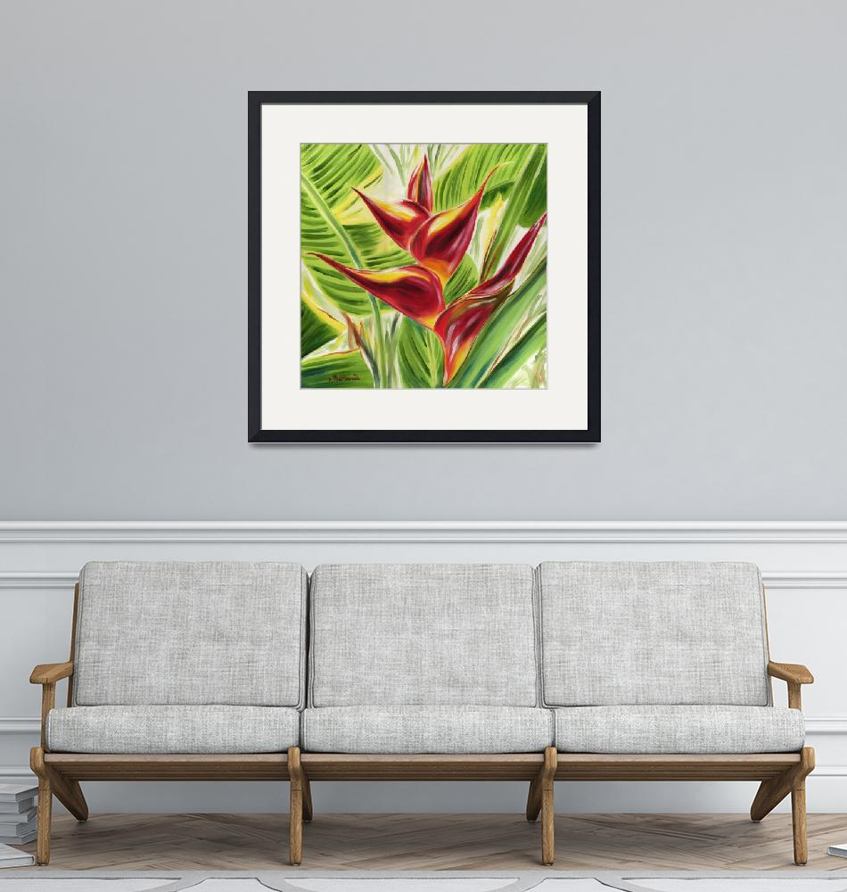 """Heliconia Flair""  by JennyFloravita"