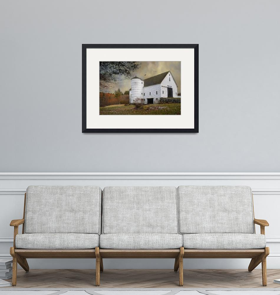 """""""The White Barn""""  by Robin-Lee"""