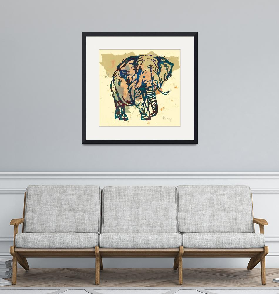 """Eehpant Wild Animal Stylised Pop Art  Poster""  (2014) by visualharbour"