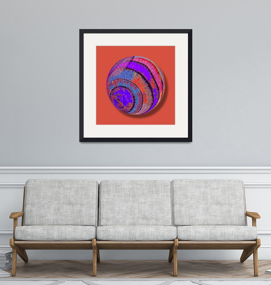 """""""Tree Ring Abstract Orb""""  (2013) by RubinoFineArt"""