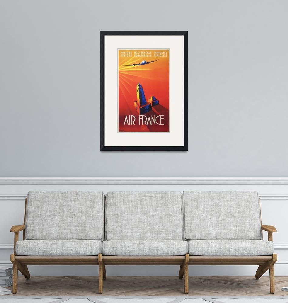 """Air France Vintage Poster""  by FineArtClassics"