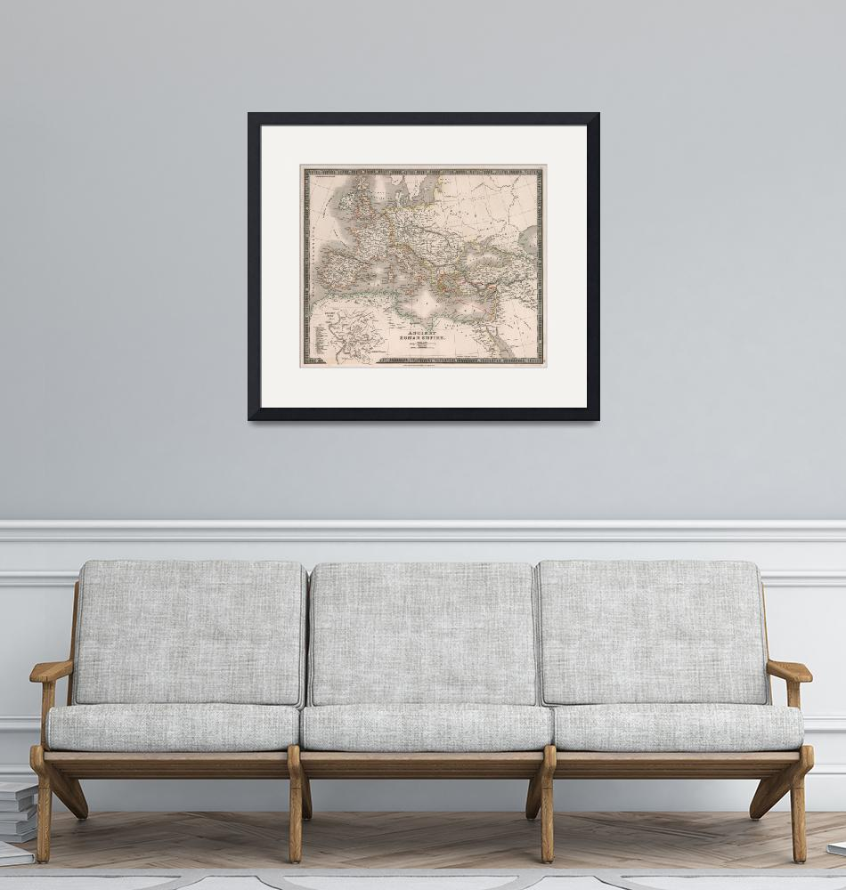 """Vintage Map of The Roman Empire (1836)""  by Alleycatshirts"