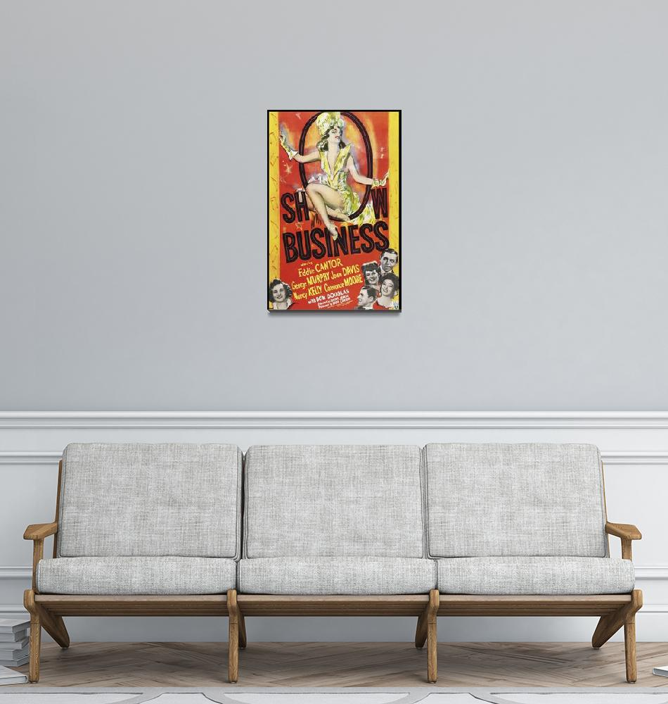 """Show Business Vintage Movie Poster""  by FineArtClassics"