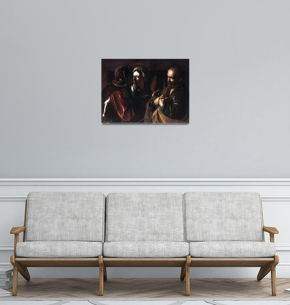 """""""Caravaggio The Denial Of St Peter""""  by oldies"""