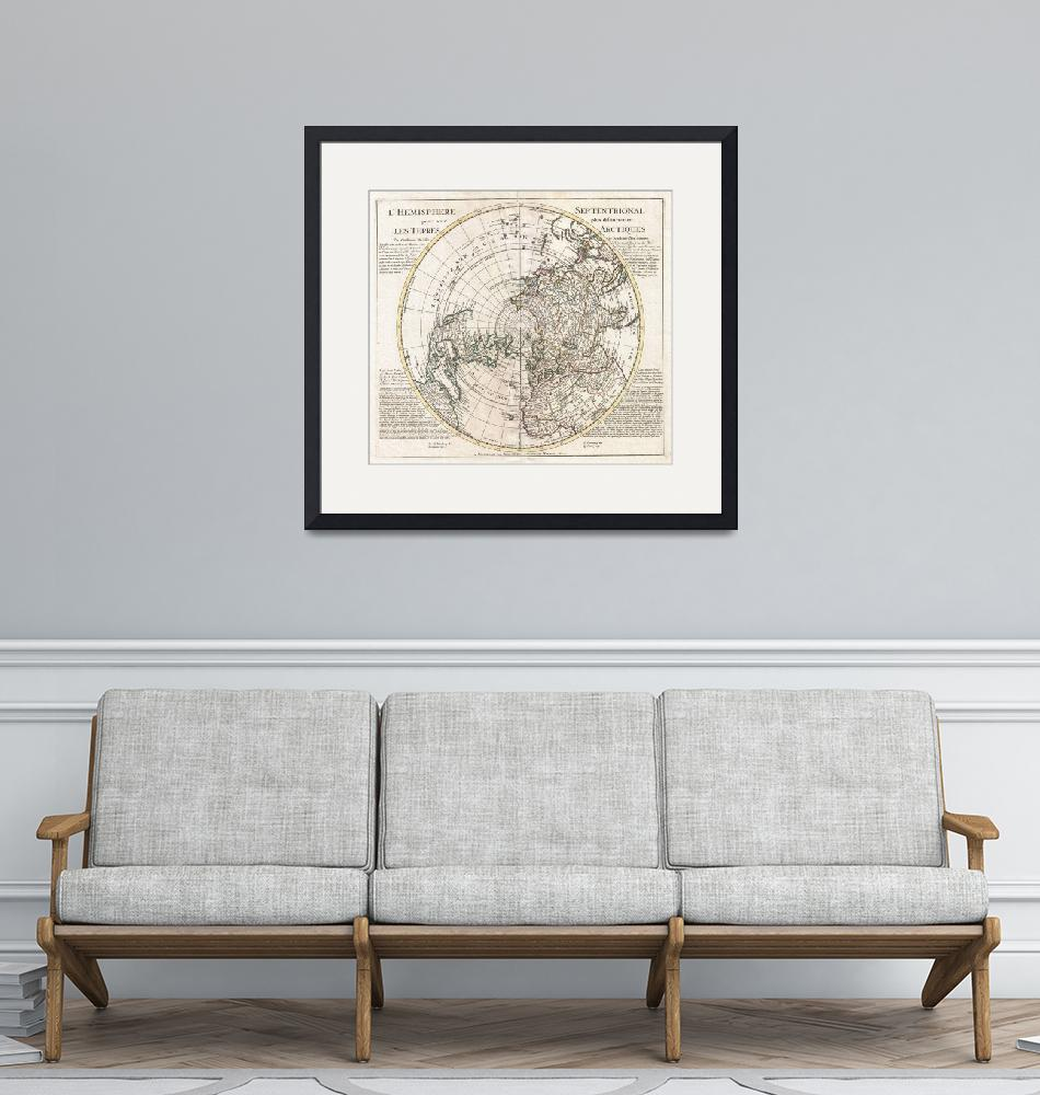 """Map of the Northern Hemisphere by Covens-Mortier""  by FineArtClassics"