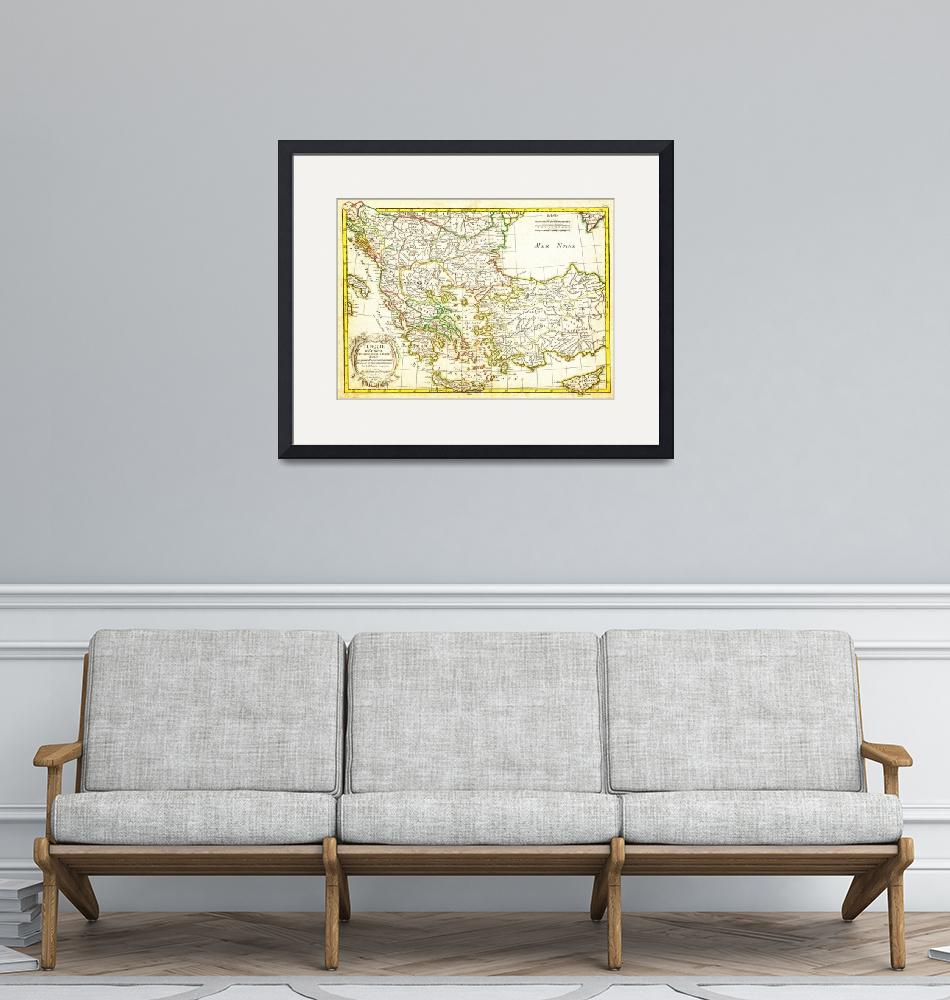 """""""1771 Janvier Map of Greece - Turkey - Macedonia an""""  by motionage"""