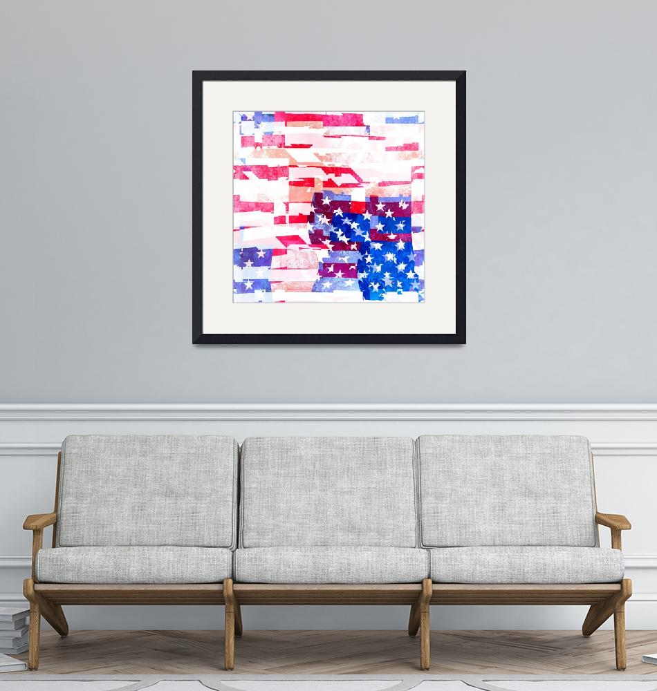 """American Flag Collage""  by Prawny"