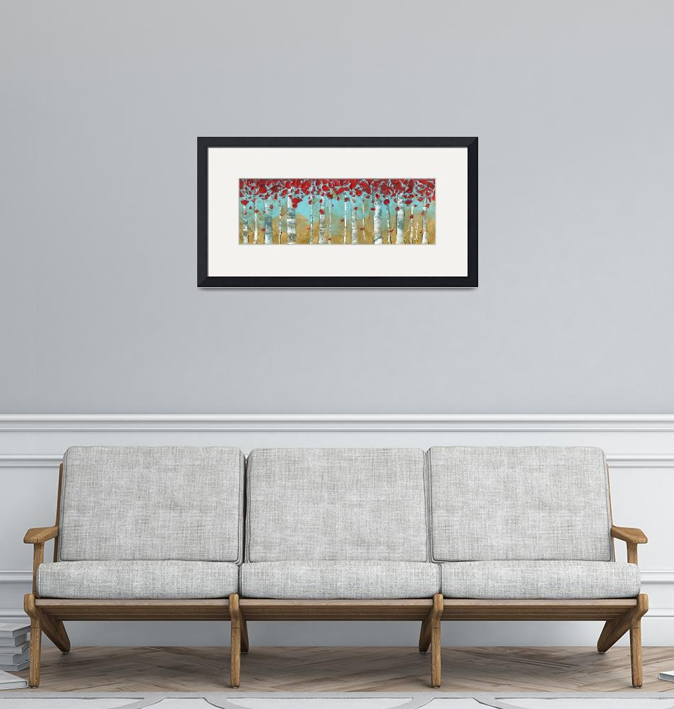 """Abstract Panoramic Landscape""  by modernhouseart"