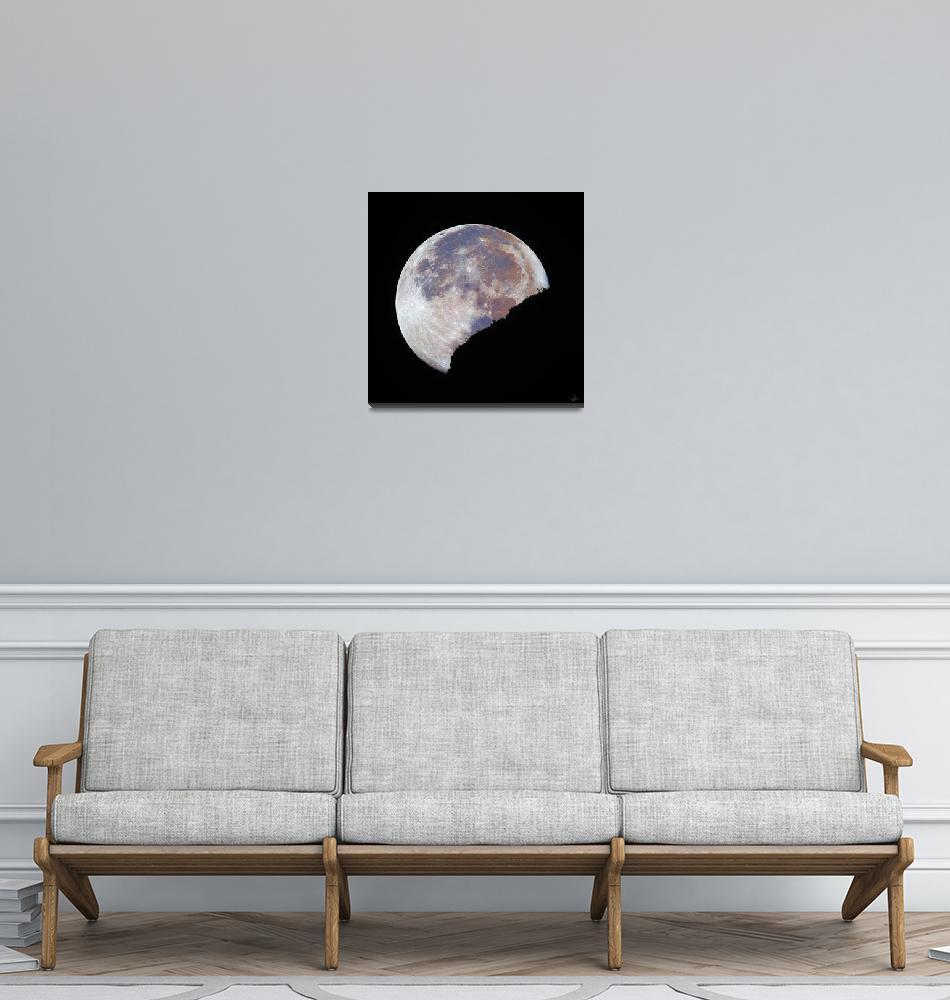 """Moonset on July 25, 2021."" (2021) by DanBorja"