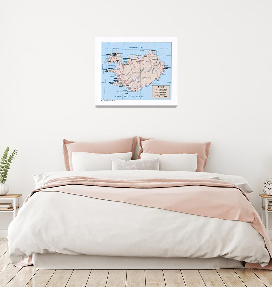 """""""Map of Iceland (1981)""""  by ArtHistory"""