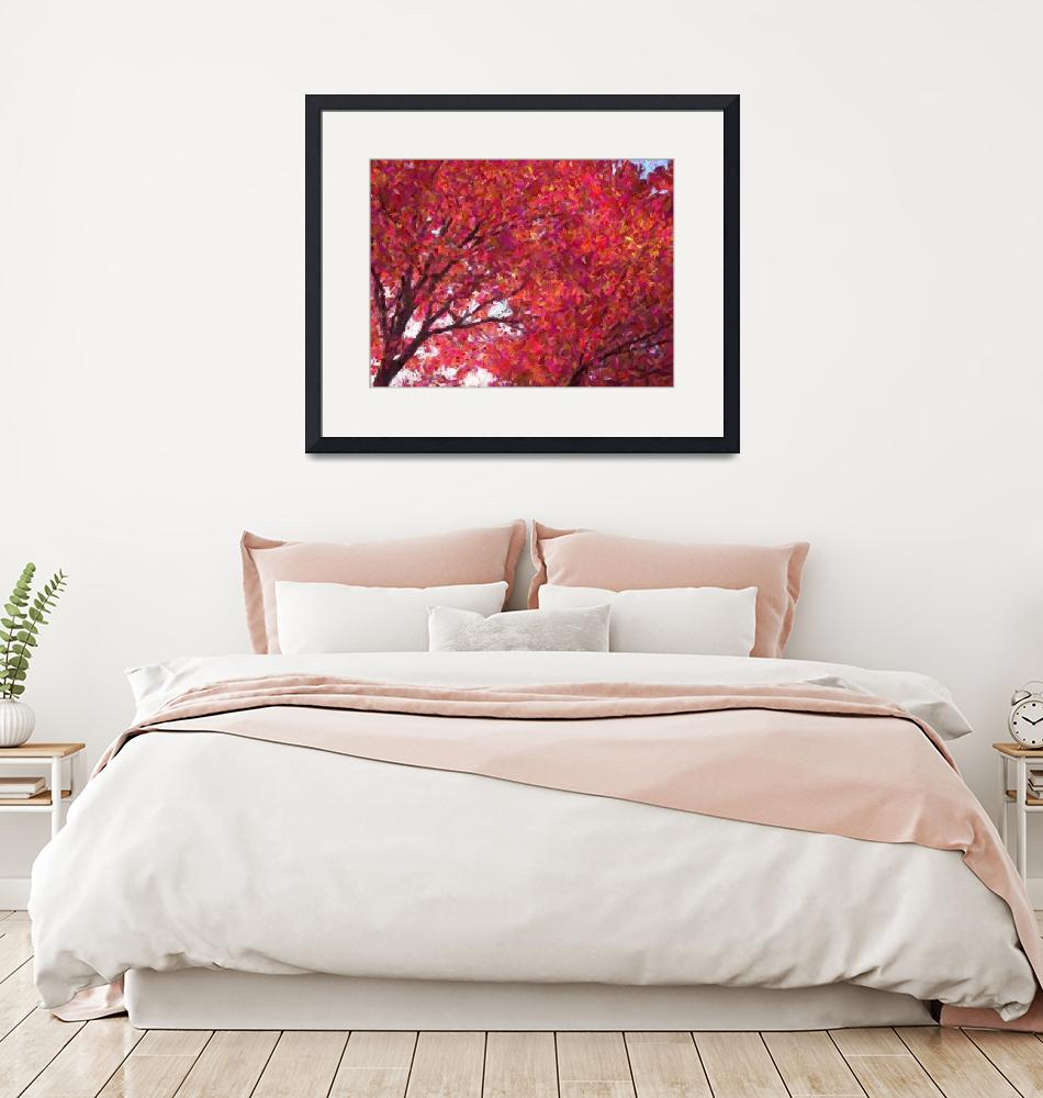 """""""Red Maple Sky""""  by OliveAndOak"""