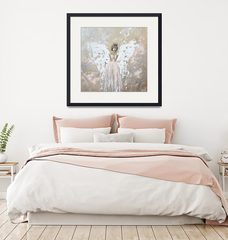 """You Are Cherished - Angel Painting""  by ChristineBell"