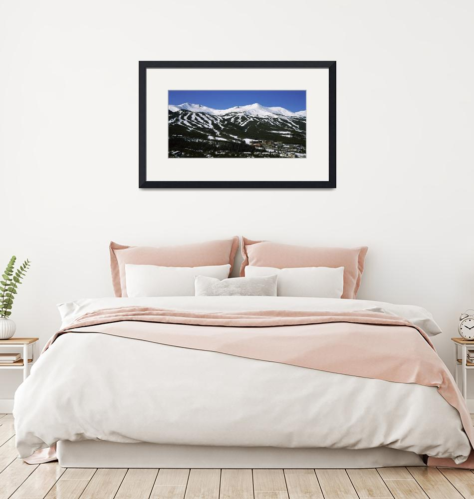 """""""Ski resorts in front of a mountain range""""  by Panoramic_Images"""
