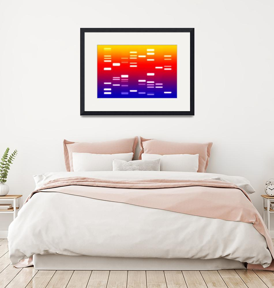 """DNA Art Blue Red Yellow""  (2010) by ModernArtPrints"