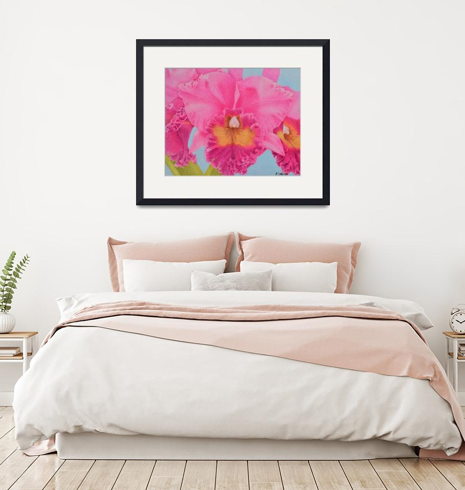 """Pink Orchid""  by sharonpattersonsart"
