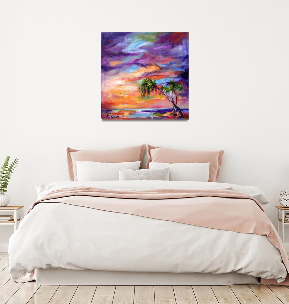 """Florida Beach and Palms Sunrise""  (2005) by GinetteCallaway"