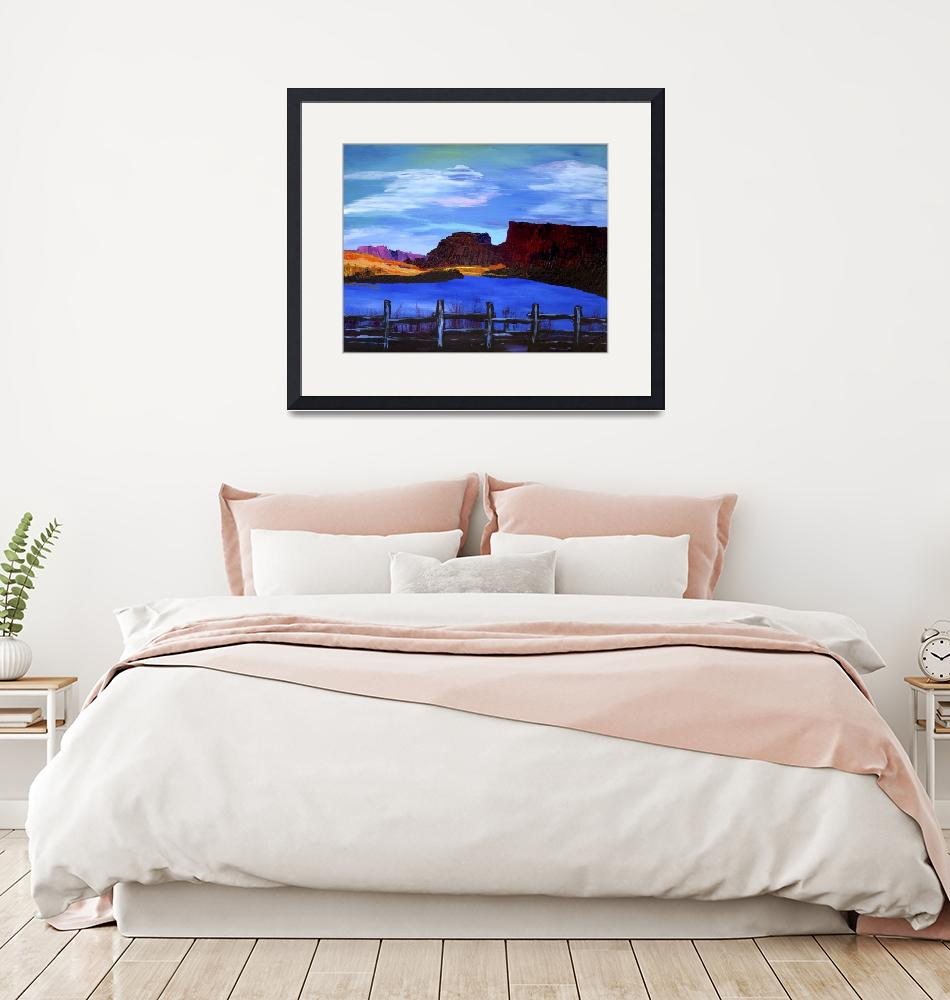 """""""Red Cliffs on the Colorado""""  (2015) by bobcoyle"""