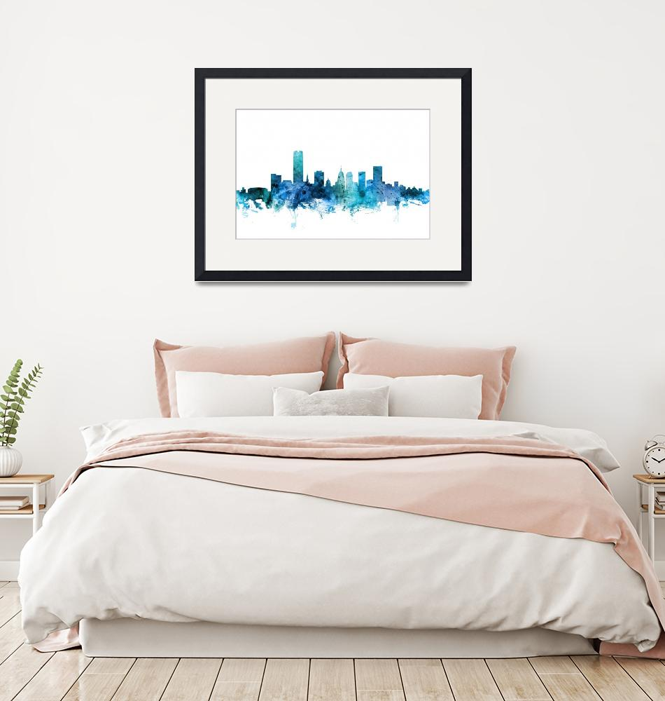 """Oklahoma City Skyline""  (2018) by ModernArtPrints"